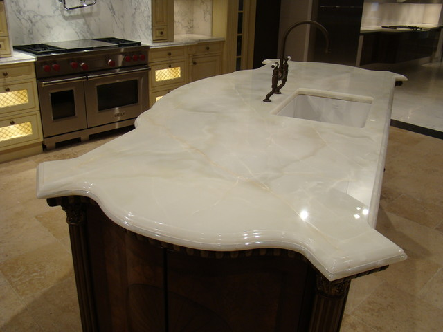 Custom Stone Counter tops ( Marble and Granite) traditional-kitchen-countertops