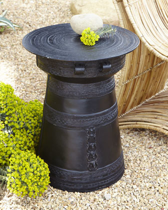 Rain Drum traditional-side-tables-and-end-tables