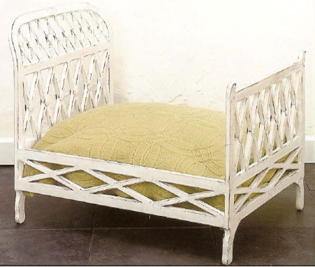 Antique White Iron Dog Bed traditional pet accessories