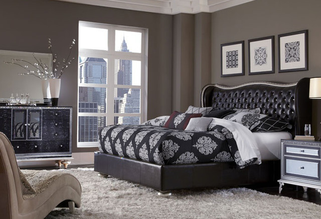 Hollywood Swank Starry Night King Bed Contemporary