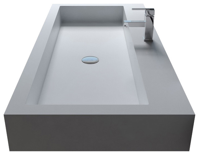 Resin Bathroom Sinks : ... Resin Wall Hung Sink - Contemporary - Bathroom Sinks - by ADM Bathroom