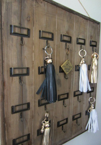 Vintage hotel key rack provides modern convenience eclectic storage and organization tampa - Vintage hotel key rack ...