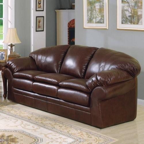 Charles schneider oxford brown leather sofa traditional for Traditional brown leather couch