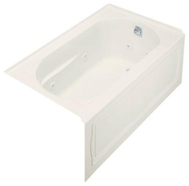 KOHLER Whirlpool Tubs. Devonshire 5 ft. Whirlpool with Right-Hand Drain in Biscu contemporary-bathtubs