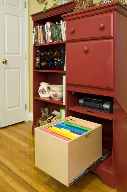 Home Office Pull Out File Box - Filing Cabinets - new york - by ...