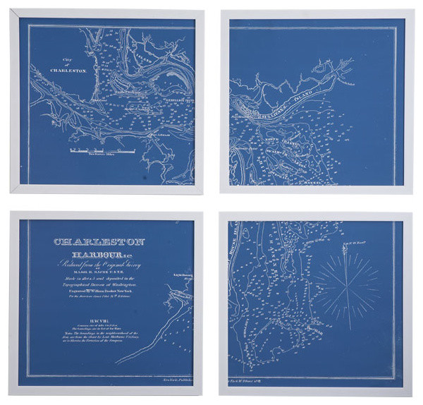 Framed Nautical Charts traditional-artwork