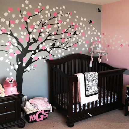 Cherry Blossom Tree - Elegant Style Wall Decal modern nursery decor