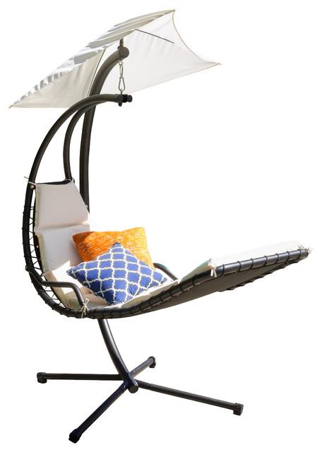 Avera Steel Hanging Lounge Chair White Modern