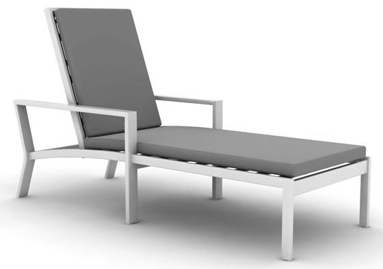 Parkview Cast Single-Chaise Lounge By Koverton modern-outdoor-chaise-lounges