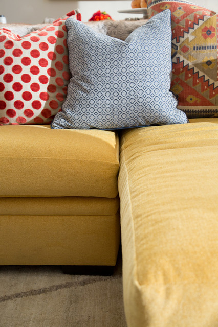 Eclectic Couch Pillows : Sofa & Eclectic Pillows - Eclectic - boise - by The Picket Fence