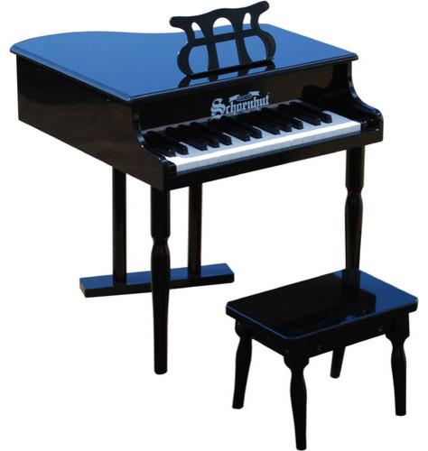 30 Key Classic Baby Grand Piano in Black modern-baby-toys