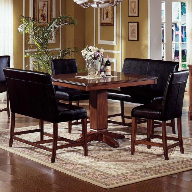 Counter Height Dining Set With Bench : ... Piece Counter Height Nook Dining Table Set traditional-dining-tables