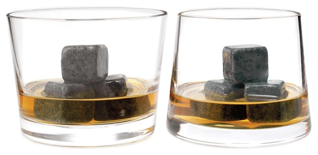 Whiskey Stones - Set of 9 contemporary barware