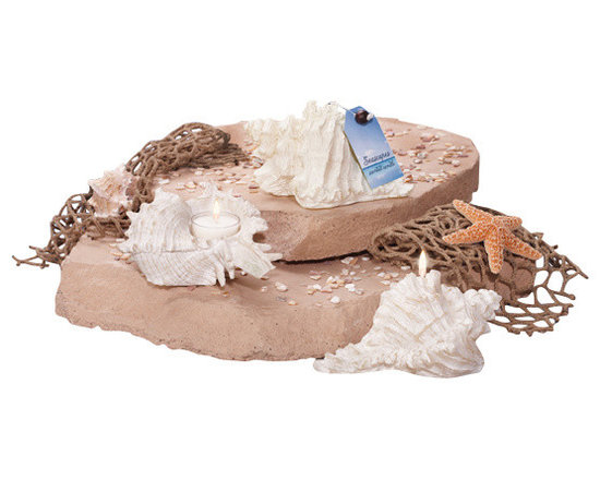 Deco Glow - Seashell Tea Light Holder, Set of 4 (Does not Include Candles) - Almost  as  authentic  as  a  shell  you  collected  on  your  last  beachcombing  trip,  this  delicate  seashell  tealight  holder  will  make  soaking  in  the  bathtub  almost  as  fun  as  soaking  in  the  surf.  Perfect  as  a  unique  wedding  table  centerpiece,  you  can  also  splash  a  few  around  your  guest  bathroom  or  use  them  as  decor  at  the  beach  house.  Beautiful  coastal  decor.