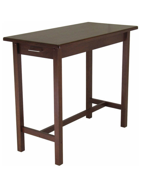 Winsome Wood - Winsome Wood Kitchen Island Table w/ 2 Drawers - Add a traditional feel to your kitchen with this breakfast kitchen island table in an antique walnut finish, with two storage draws at end each. Made of solid wood. Assembly Required Kitchen Island (1)