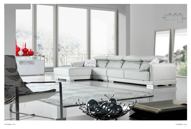 Maren Italian Leather Sectional Sofa Modern Sectional Sofas Los Angeles