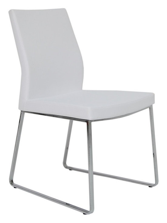 """Pasha Slide Chair by sohoConcept - Pasha Wood is an ergonomic dining chair with a comfortable upholstered seat and backrest on solid beech legs tipped with screwed plastic caps. The seat has a steel structure with """"S"""" shape springs for extra flexibility and strength. This steel frame molded by injecting polyurethane foam. Pasha seat is upholstered with a removable velcro enclosed leather, PPM or wool fabric slip cover. The chair is suitable for both residential and commercial use"""