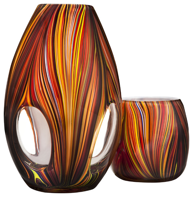Missoni for target glass vase and votive candleholders for House decor accessories