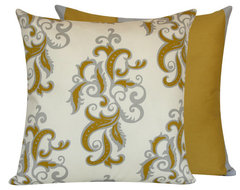 Vintage Scrolls Collection Decorative Throw Pillow l Chloe and Olive traditional-decorative-pillows