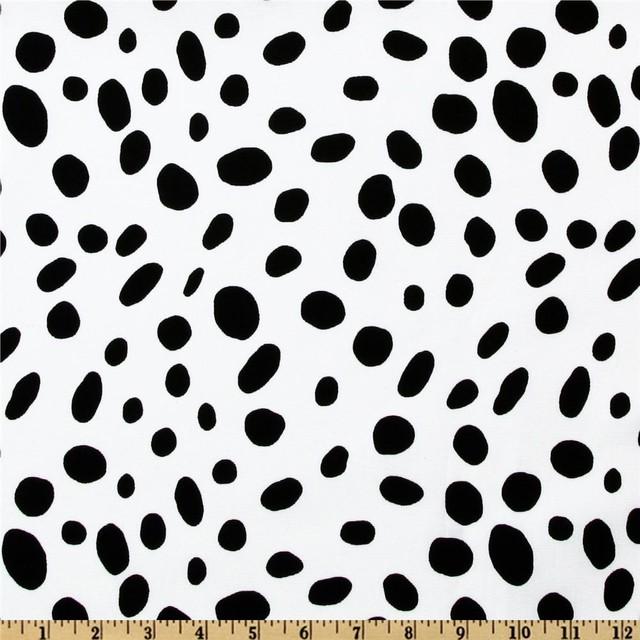 Premier Prints Togo Fabric White Black Contemporary