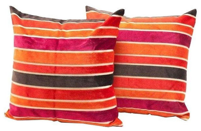 Decorative Pillows Retail : Pillow Striped Velvet - $200 Est. Retail - $150 on Chairish.com