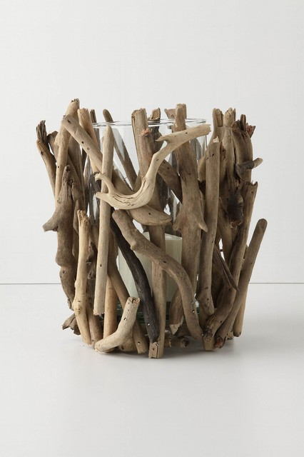 Driftwood Hurricane - Anthropologie.com beach-style-candles-and-candleholders