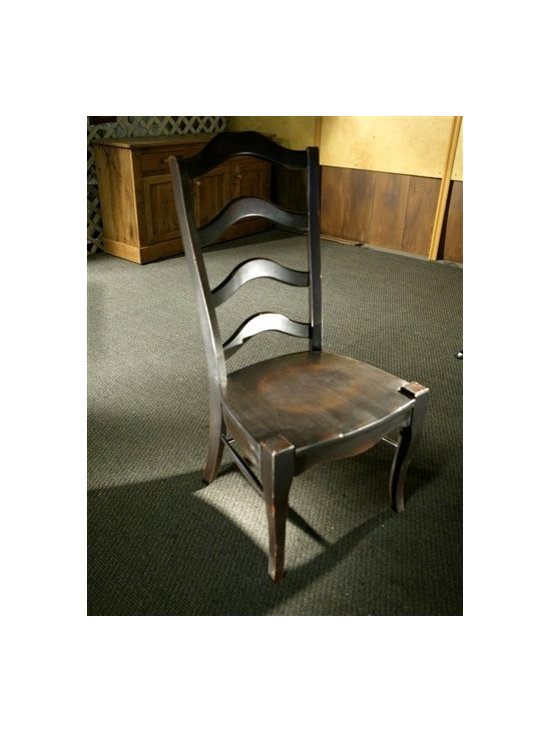 Black French Ladder Back Dining Chairs - Made by http://www.ecustomfinishes.com