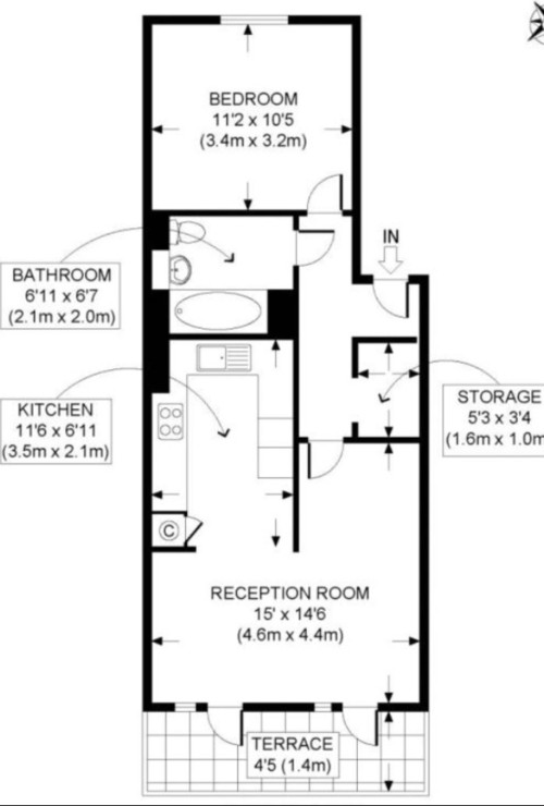 Need help with my 500sq ft apartment layout - Houses bedroom first floor fit needs ...