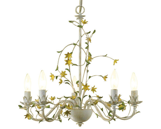 Star Flower Chandelier - This chandelier entwined with flowers is charming and whimsical.