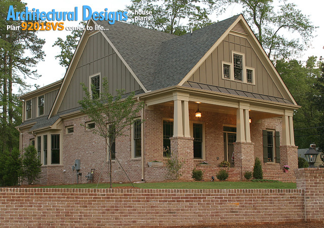 Architectural designs house plan 921018vs narrow lot for Narrow lot craftsman house plans