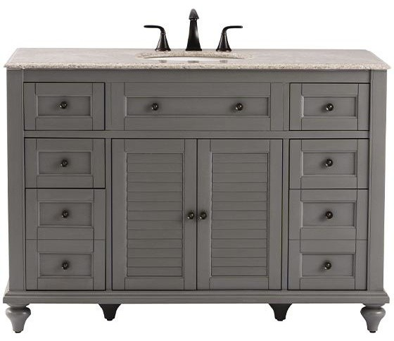 Hamilton shutter bath vanity gray transitional bathroom vanities and sink consoles by - Home decor bathroom vanities ...
