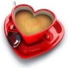 Heart Cup Of Tea Canvas Prints modern-artwork