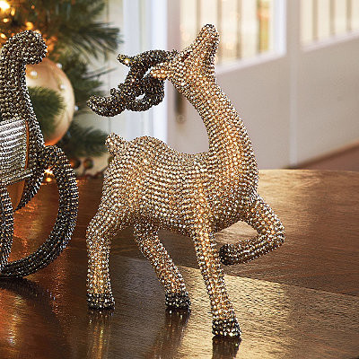Crystal Reindeer by Jimmy Crystal - Frontgate - Christmas Decorations ...