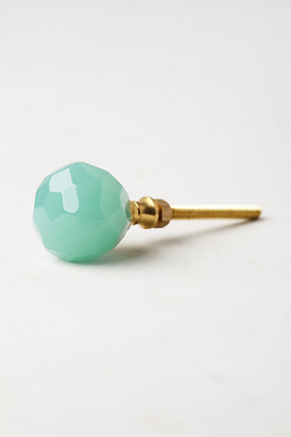 Faceted Sotara Knob, Mint - Contemporary - Cabinet And Drawer Knobs - by Anthropologie