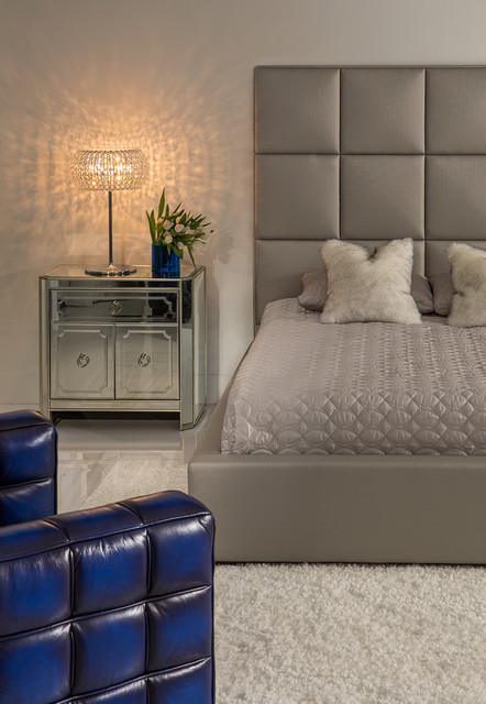 Mirrored Furniture The Fairest One Of Them All Modern Bedroom Miami