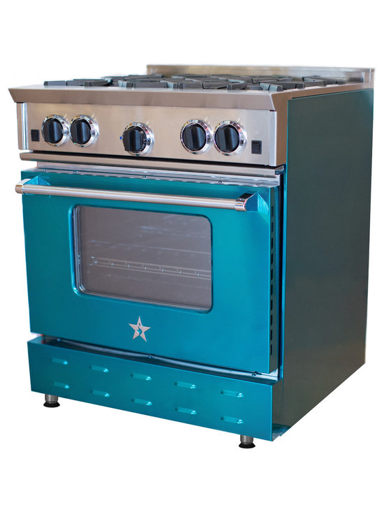 "30"" BlueStar Range in Topaz - Bold, vibrant, high-volume colors are a big trend throughout the home. The new Jewel Tones collection from BlueStar® brings to life the rich, high-gloss color of real gems that can be seen on fashion runways and in home décor. With the six new Jewel Tones hues, take personalization in the kitchen to the next level."