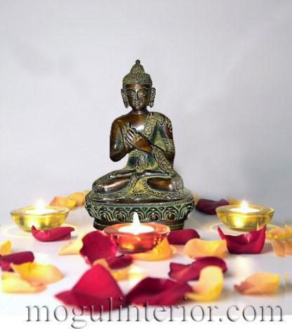 Brass Buddha Statue asian-home-decor