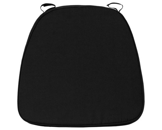 Flash Furniture - Flash Furniture Soft Black Fabric Chiavari Cushion for Wood Chiavari Bar Stools - Add comfort to your Wood or Resin Chivalry Chair with this detachable cushion. The Velcro straps allows for easy attachment to the chair frame and quick removal when no longer needed.