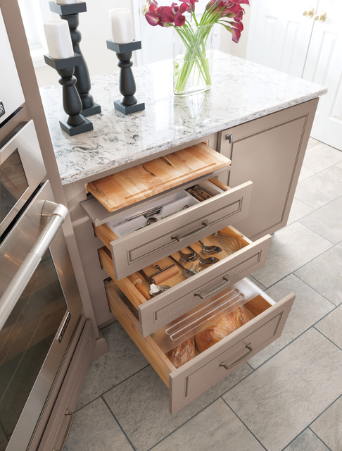 Diamond Cutting Board & Bread Drawer - Kitchen Cabinetry ...