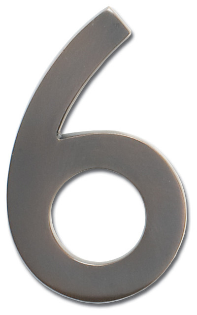 Floating house number 6 dark aged copper traditional for Floating house letters