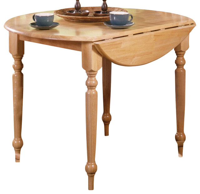 40 Inch Round Dining Table In Natural Oa Contemporary Dining Tables