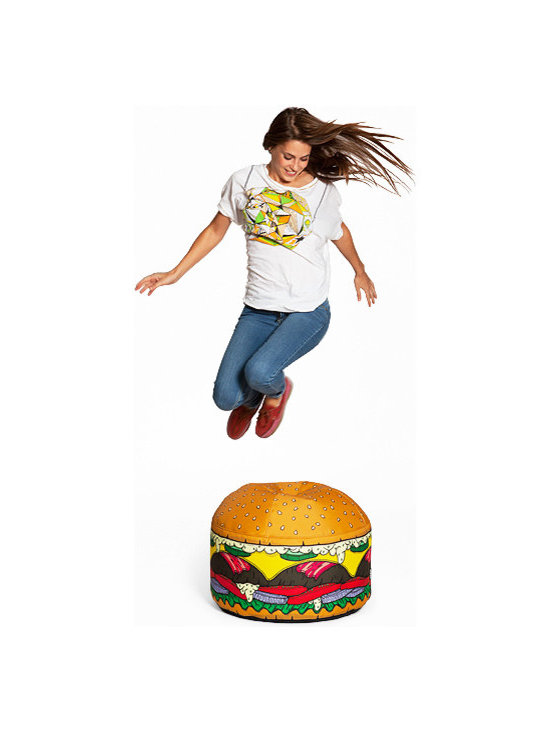 Mini Burger - Outside cover: ultra resistant technical fabric, zipper, completely removable