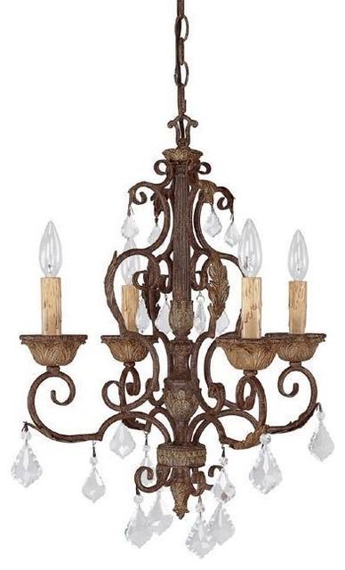 4 Light Mini Chandelier modern-chandeliers