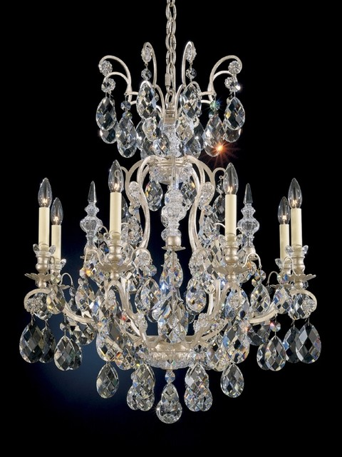 """Crystal Schonbek Renaissance Collection 26 1/2"""" Crystal Chandelier traditional-chandeliers"""