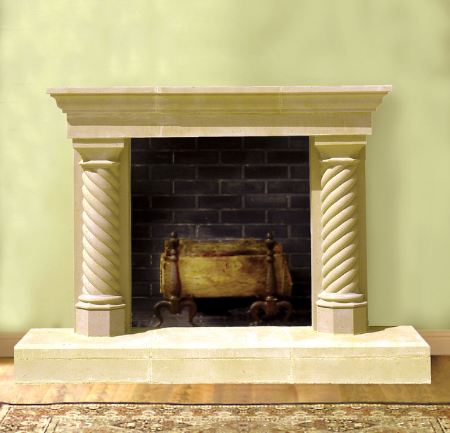 sheridan cast stone fireplace mantel traditional