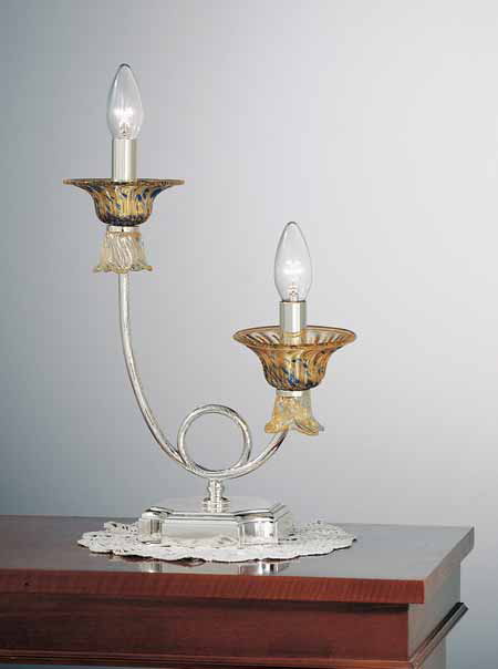 Organza lamp shades and Murano glass, collection OR/501 and OR/221 traditional-table-lamps