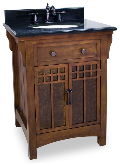 Lyn Design Van037 T Wood Vanity Black Granite Top Traditional Bathroom Vanities And Sink