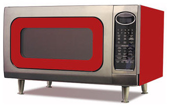Big Chill Retro Microwave 24 in. wide - Cherry Red modern-microwave-ovens