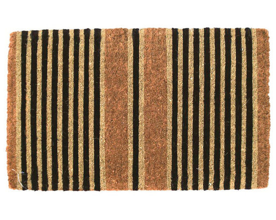Rejuvenation: Exterior Outdoor Lighting - This sturdy coir doormat sports classic stripes, and is a stylish way to keep dirt out of your home. It's also a great way to add subtle contrast to any entry.