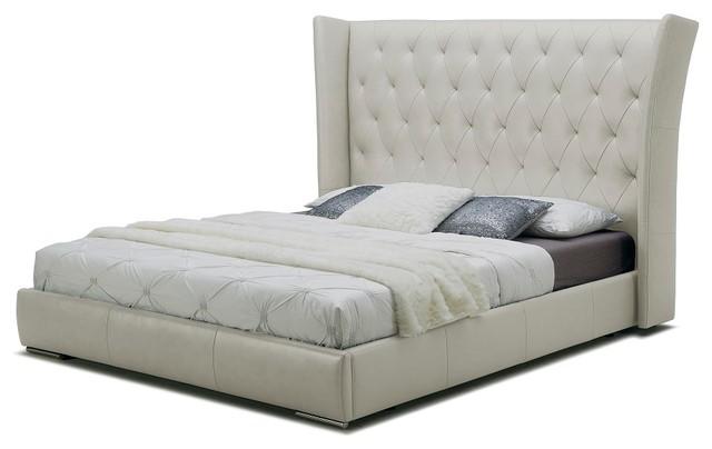 Image Result For Donovan Tufted Leather Modern Platform Bed